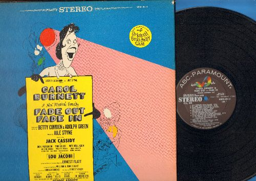 Burnett, Carol, Jack Cassidy - Fade Out Fade In - Original Broadway Cast (vinyl STEREO LP record, gate-fold cover) - M10/EX8 - LP Records