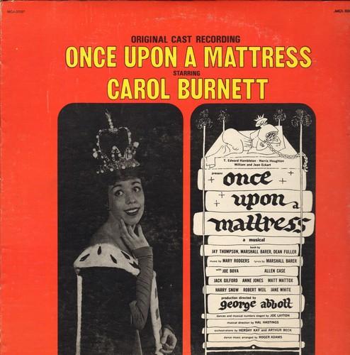 Burnett, Carol - Once Upon A Mattress - Original Broadway Cast starring Carol Burnett (vinyl STEREO LP record, re-issue) - NM9/EX8 - LP Records