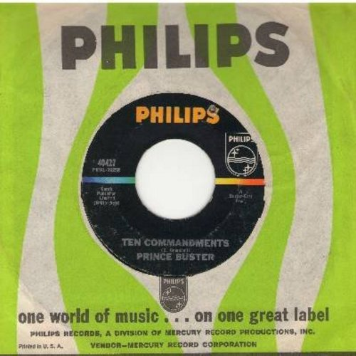 Prince Buster - Ten Commandments/Don't Make Me Cry (with Philips company sleeve) - NM9/ - 45 rpm Records
