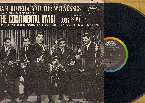 Butera, Sam & The Witnesses Starring Louis Prima - The Continental Twist: Oh Ma Ma Twist, Honey Love, Better Twist Now Baby, Tag That Twistin' Dolly (vinyl MONO LP record) - VG7/VG6 - LP Records