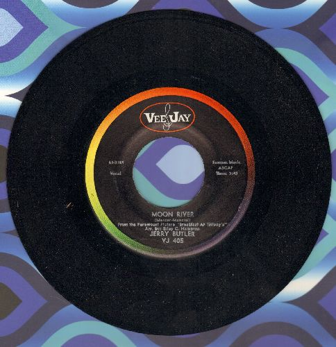Butler, Jerry - Moon River/Aware Of Love (VERY Pleasant Vintage R&B two-sider!) - NM9/ - 45 rpm Records