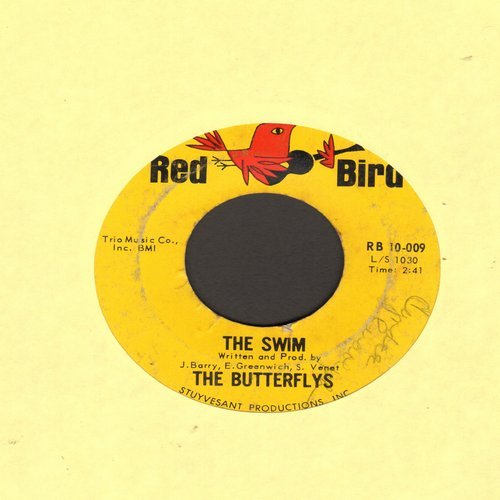 Butterflys - The Swim/Good Night Baby (wol) - G5/ - 45 rpm Records