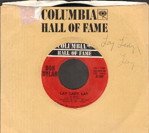 Dylan, Bob - Lay Lady Lay/Peggy Day (with Columbia company sleeve) - EX8/ - 45 rpm Records