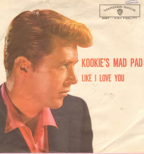 Byrnes, Edd & Friend - Kookie's Mad Pad/Like I Love You (with picture sleeve) - EX8/VG6 - 45 rpm Records