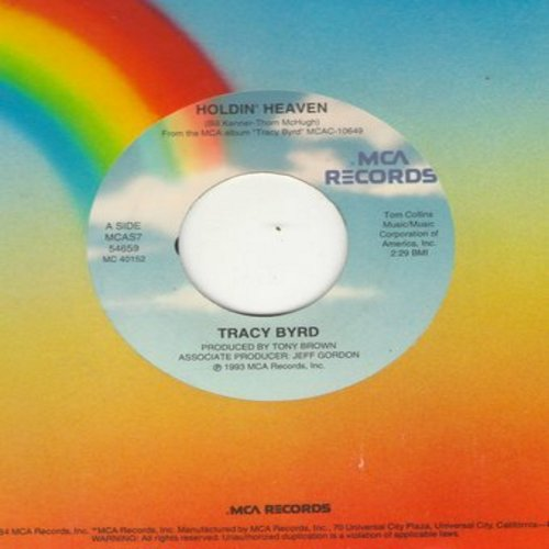 Byrd, Tracy - Holdin' Heaven/Edge Of A Memory - NM9/ - 45 rpm Records