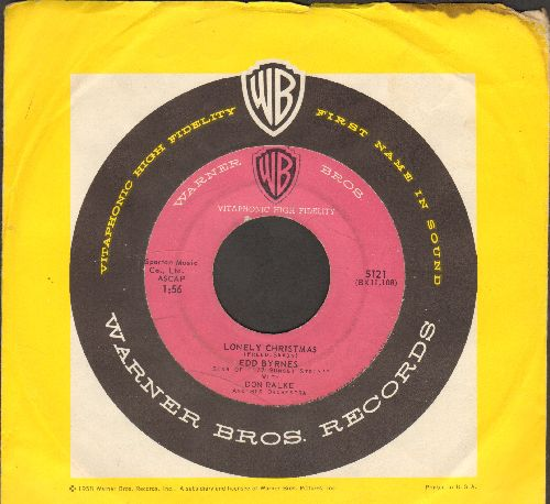 Byrnes, Edd Kookie - Lonely Christmas/Yuleswville (with vintage Warner Brothers company sleeve) - VG7/ - 45 rpm Records