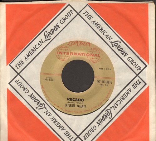 Valente, Caterina - Recado/Samba Di Una Nota (with company sleeve) - M10/ - 45 rpm Records