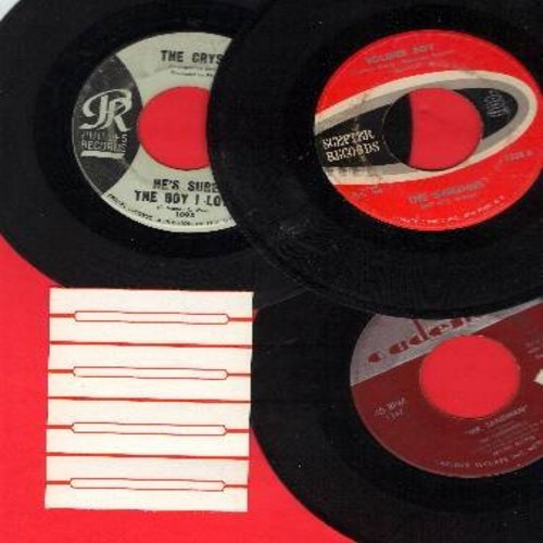 Chordettes, Crystals, Shirelles - Vintage Girl-Groups 3-Pack: First issue 45s. Hits include Mr. Sandman, He's Sure The Boy I Love and Soldier Boy. Shipped in plain white paper sleeves with 4 blank juke box labels. GREAT for a Juke Box! - VG7/ - 45 rpm Rec