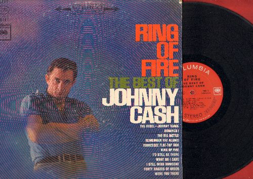 Cash, Johnny - Ring Of Fire - The Best Of Johnny Cash: Bonanza!, The Rebel Johnny Yuma, Remember The Alamo, Peace In The Valley (vinyl STEREO LP record) - VG7/VG7 - LP Records