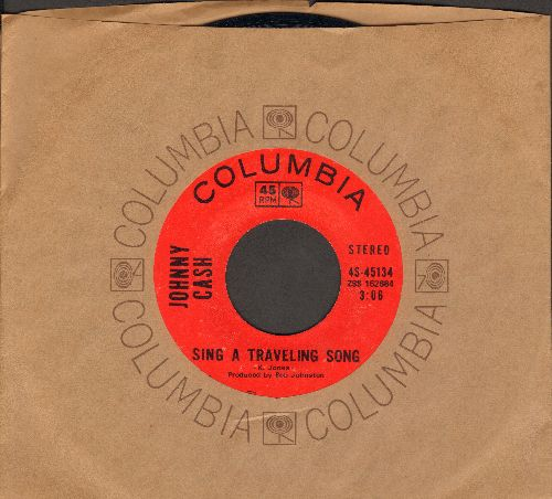 Cash, Johnny - Sing A Traveling Song/What Is Truth (MINT condition with Columbia company sleeve) - M10/ - 45 rpm Records