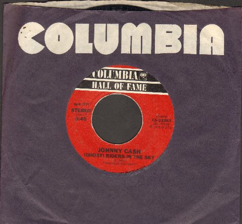 Cash, Johnny - (Ghost) Riders In The Sky/There Ain't No Good Chain Gang (double-hit re-issue with Columbia company sleeve) - EX8/ - 45 rpm Records