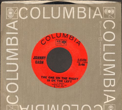 Cash, Johnny - The One On The Right Is On The Left/Cotton Pickin' Handsa (with Columbia company sleeve) - NM9/ - 45 rpm Records