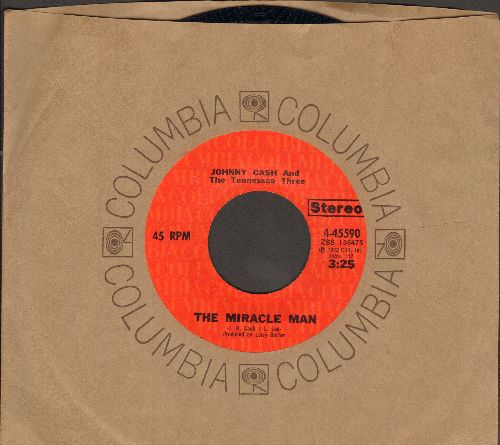 Cash, Johnny - The Miracle Man/Kate (with Columbia company sleeve) - NM9/ - 45 rpm Records