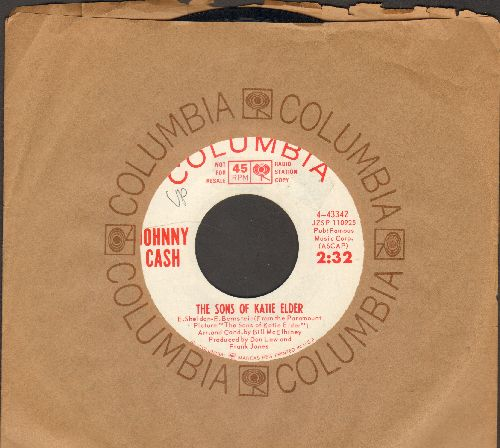 Cash, Johnny - The Sons Of Katie Elder/A Certain Kinda Hurtin' (DJ advance pressing with Columbia company sleeve) - NM9/ - 45 rpm Records