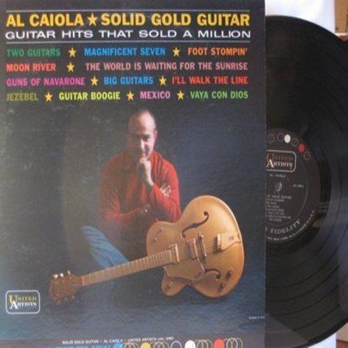 Caiola, Al - Solid Gold Guitar: Magnificent Seven, Foot Stompin', I'll Walk The Line, Moon River, Guns Of The Navarone (vinyl MONO LP record) - M10/EX8 - LP Records