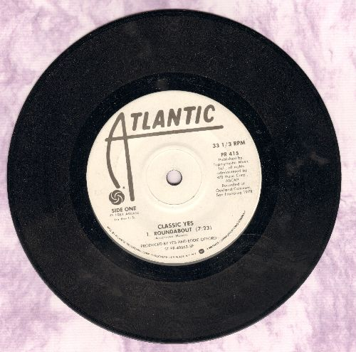 Yes - Classic Yes: 7 inch 33 rpm PROMOTIONAL EP record featuring 7