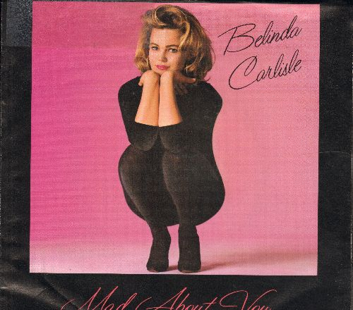 Carlisle, Belinda - Mad About You/I Never Wanted A Rich Man (with picture sleeve) - NM9/EX8 - 45 rpm Records