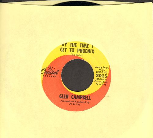 Campbell, Glen - By The Time I Get To Phoenix/You've Still Got A Place In My Heart (orange/yellow swirl first pressing in MINT condition!) - M10/ - 45 rpm Records