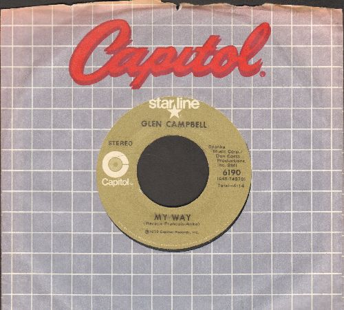 Campbell, Glen - My Way/Mac Arthur Park (double-hit re-issue with Capitol company sleeve) - EX8/ - 45 rpm Records