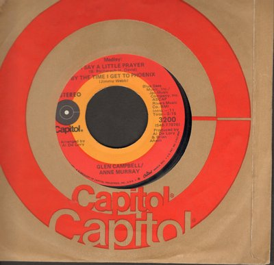 Campbell, Glen & Anne Murray - Medley: I Say A Little Prayer/By The Time I Get To Phoenix/All Through The Night - NM9/ - 45 rpm Records