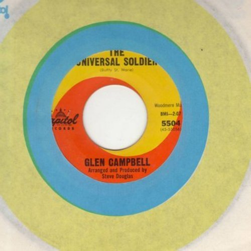 Campbell, Glen - Universal Soldier/Spanish Shades (with Capitol company sleeve) - EX8/ - 45 rpm Records