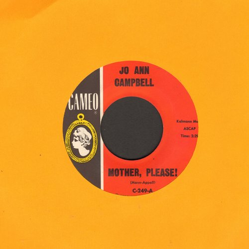 Campbell, Jo Ann - Mother, Please!/Waitin' For Love - VG7/ - 45 rpm Records