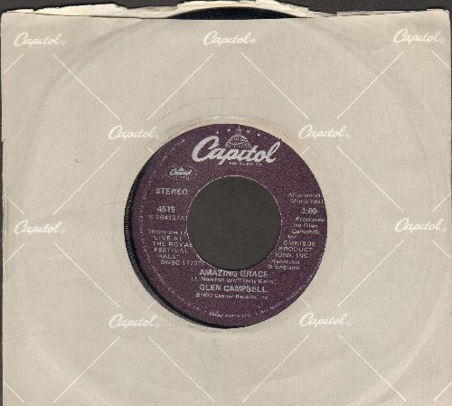 Campbell, Glen - Amazing Grace/God Must Have Blessed America (with Capitol company sleeve) - EX8/ - 45 rpm Records