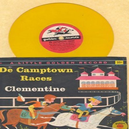 Byron, Dick & The Sandpipers - De Campton Races (Doo-Dah Doo-Dah)/Clementine (RARE 78rpm Little Golden Record with picture sleeve) - EX8/EX8 - 78 rpm