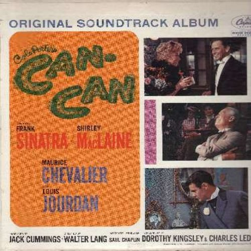 Can-Can - Can-Can - Original Motion Picture Sound Track featuring songs by Frank Sinatra, Shirley Mac Laine and Maurice Chevalier (vinyl MONO LP record, rainbow-circle label) - NM9/EX8 - LP Records