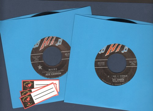 Cannon, Ace - 2 for 1 Special: More/If I Had A Hammer (2 vintage first issue 45rpm records for the price of 1! Shipped in plain white paper sleeves with 3 blank juke box labels) - NM9/ - 45 rpm Records