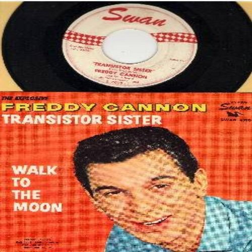 Cannon, Freddy - Transistor Sister/Walk To The Moon (with picture sleeve) - EX8/VG7 - 45 rpm Records