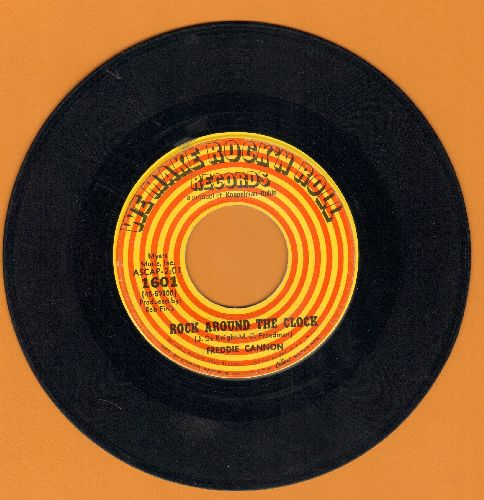 Cannon, Freddie - Rock Around The Clock/Sock It To The Judge (label shows artist's name as FREDDIE rather than Freddy!) - VG7/ - 45 rpm Records