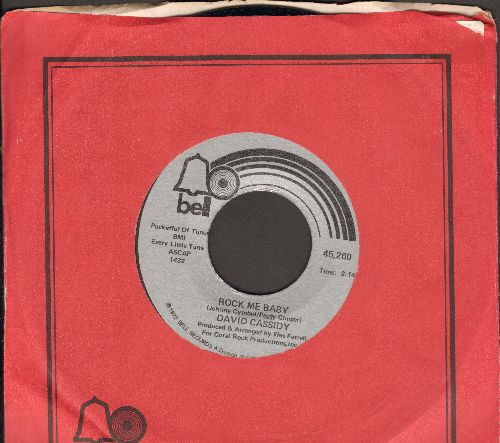 Cassidy, David - Rock Me Baby/ (with Bell company sleeve) - VG7/ - 45 rpm Records