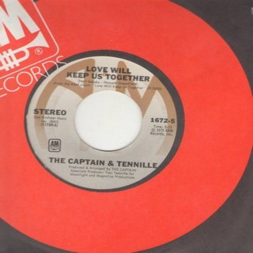 Captain & Tennille - Love Will Keep Us Together/Gentle Stranger (with A&M company sleeve) - NM9/ - 45 rpm Records