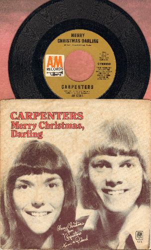 Carpenters - Merry Christmas Darling/Mr. Guder (with picture sleeve) - EX8/VG7 - 45 rpm Records