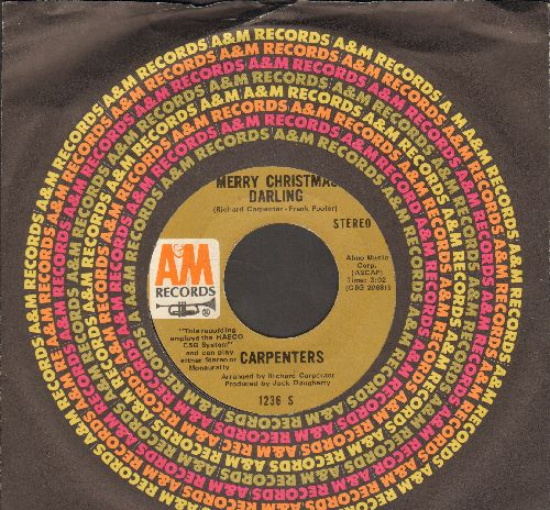Carpenters - Merry Christmas Darling/Mr. Guder (NICE condition with A&M company sleeve) - NM9/ - 45 rpm Records