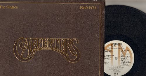 Carpenters - The Singles 1969-1973: We've Only Just Begun, Top Of The World, Ticket To Ride, Close To You, Sing, Rainy Days And Mondays (vinyl STEREO LP record, gate-fold cover) - EX8/VG7 - LP Records