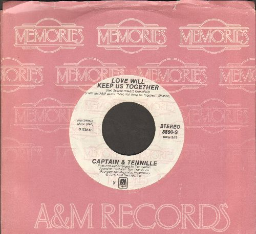 Captain & Tennille - Love Will Keep Us Together/The Way I Want To Touch You (double-hit re-issue with A&M company sleeve) - NM9/ - 45 rpm Records