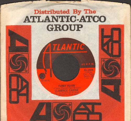 Carter, Clarence - Funky Fever/Slip Away (with Atlantic company sleeve) - NM9/ - 45 rpm Records