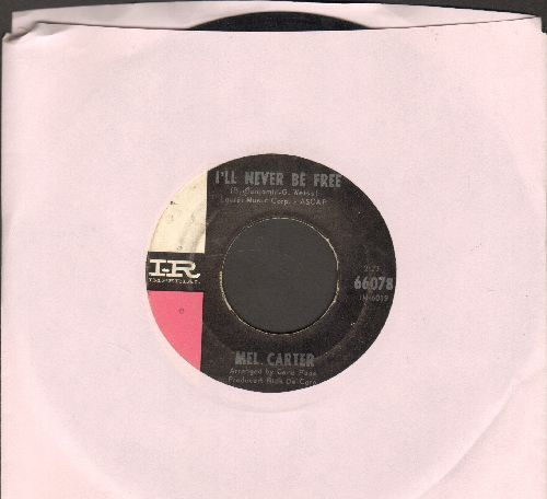 Carter, Mel - I'll Never Be Free/The Richest Man Alive (minor wol) - VG6/ - 45 rpm Records