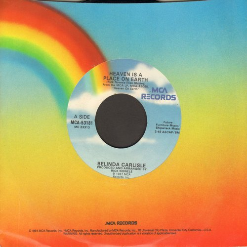 Carlisle, Belinda - Heaven Is A Place On Earth/We Can Change - EX8/ - 45 rpm Records