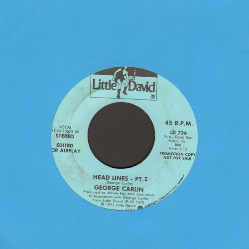 Carlin, George - Head Lines (Parts 1 + 2, DJ advance pressing edited for air play) - NM9/ - 45 rpm Records