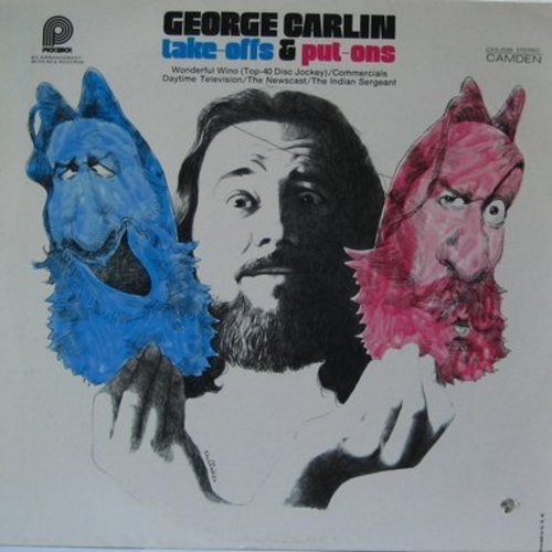 Carlin, George - Take-Offs & Put-Ons: 5 classic comedy routines by the master-thinker! (vinyl STEREO LP record, second pressing) - EX8/VG7 - LP Records