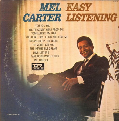 Carter, Mel - Easy Listening: You You You, Somewhere My Love, Strangers In The Night, The Impossible Dream, Love Letters (vinyl MONO LP record, DJ advance pressing) - EX8/VG7 - LP Records