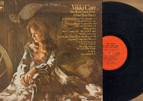 Carr, Vikki - The First Time Ever (I Saw Your Face): Gypsies Tramps And Thieves, Cabaret, Without You, Love Thee From -The Godfather-, Brian's Song (vinyl STEREO LP record) - EX8/EX8 - LP Records