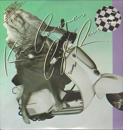 Carnes, Kim - Café Racers: Invisible Hands, You Make My Heart Beat Faster, Hurricane, I Pretend 9vinyl STEREO LP record, DJ advance pressing, SEALED, never opened!) - SEALED/SEALED - LP Records