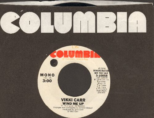 Carr, Vikki - Wind Me Uip (double-A-sided DJ advance pressing with MONO and STEREO version, with Columbia company sleeve) - NM9/ - 45 rpm Records
