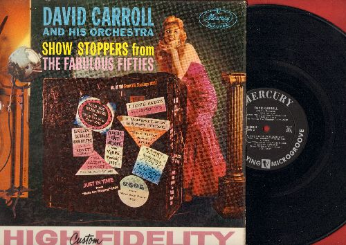 Carroll, David & His Orchestra - Show Stoppers From The Fabulous Fifties: I Love Paris, I Whistle A Happy Tune, Cool, Just In Time, You're Just In Love (vinyl MONO LP record) - NM9/NM9 - LP Records
