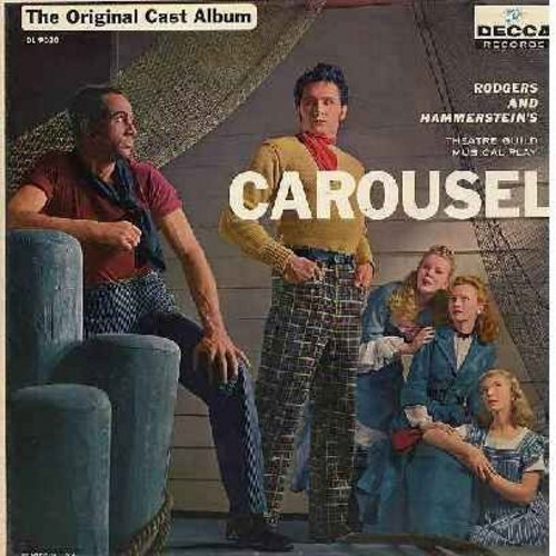 Carousel - Original Cast Album featuring John Raitt and Jan Clayton in the leads. The Rodgers & Hammerstein Broadway Classic! (vinyl MONO LP record, maron label first issue, NICE condition!) - NM9/NM9 - LP Records