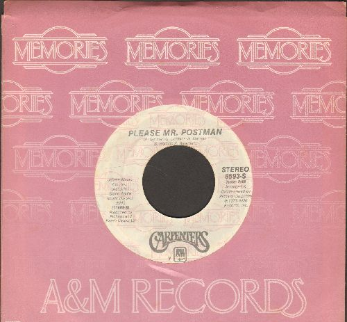 Carpenters - Please Mr. Postman/Solitaire (re-issue with company sleeve) - NM9/ - 45 rpm Records
